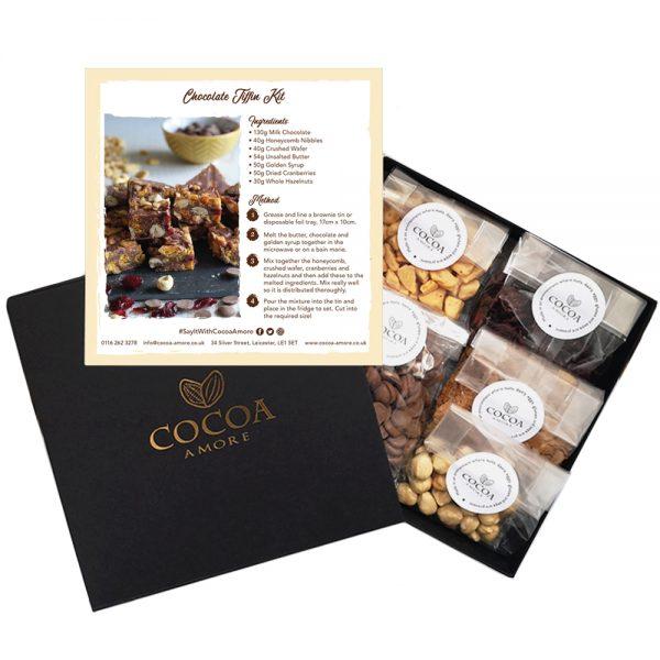 Chocolate Tiffin Kit Open